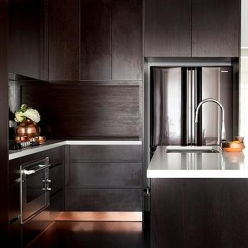 Espresso Frameless Cabinets Design Ideas