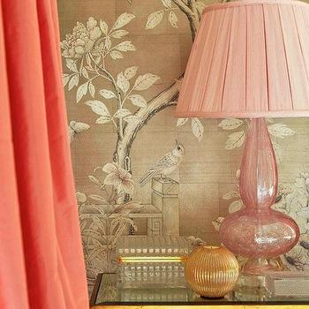 Salmon Pink Curtains, Asian, bedroom, Traditional Home