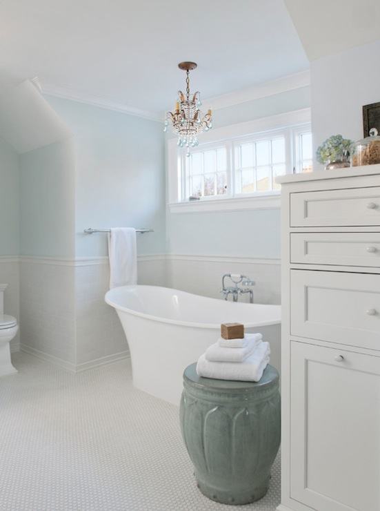 Powder blue bathroom traditional bathroom benjamin for Powder blue bathroom ideas