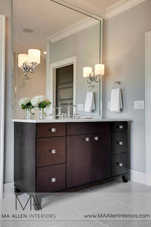 espresso vanity contemporary bathroom ma allen interiors