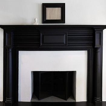Black Fireplace Mantel, Transitional, living room, Sullivan Building and Design Group