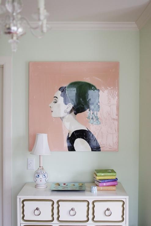 Audrey Hepburn Art - Eclectic - girl\'s room - Matchbook Magazine