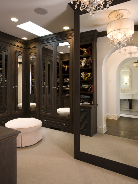 Floor To Ceiling Mirror Traditional Closet John