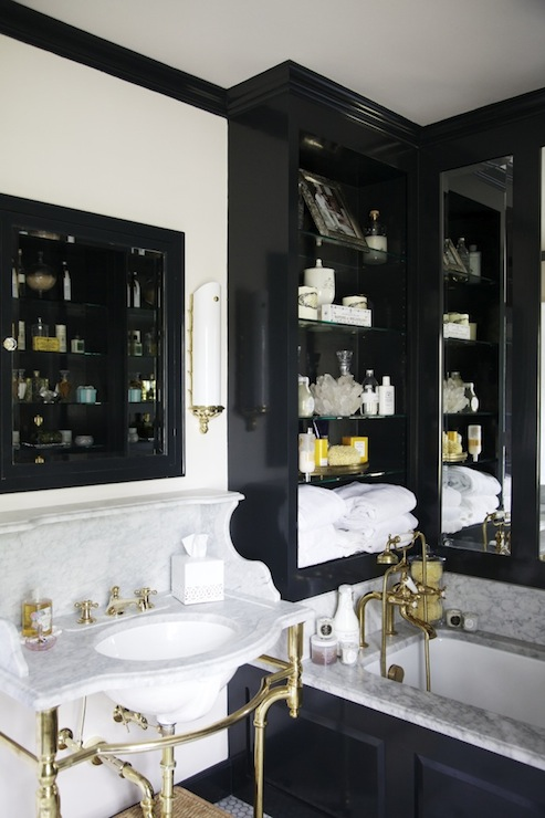 Black and gold bathroom eclectic bathroom matchbook Beautiful bathrooms and bedrooms magazine