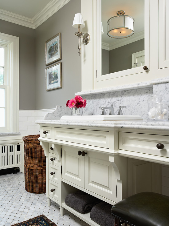 Rockport Gray Transitional Bathroom Benjamin Moore