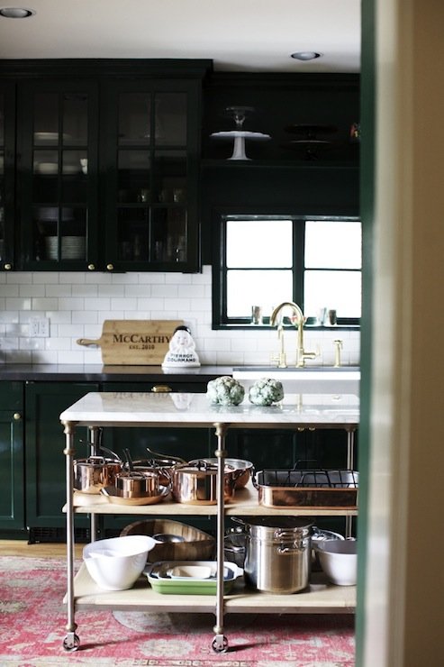 Eclectic kitchen for Best brand of paint for kitchen cabinets with copper wall art home decor