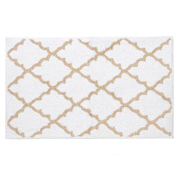 Tan U0026 White Lattice Bath Mat   Kirklandu0027s
