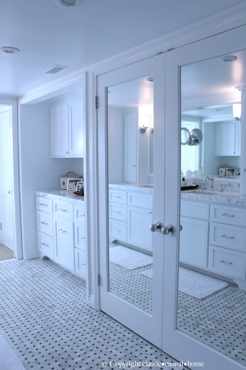 Mirrored Doors Traditional Bathroom Classic Casual Home