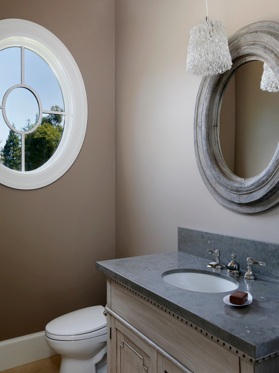 Gray Round Mirror Design Ideas