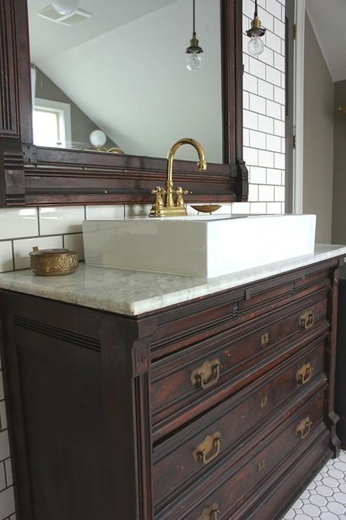 repurposed vanity vintage bathroom chic design investments rh decorpad com Repurposed Metal Repurposed Tile Ideas