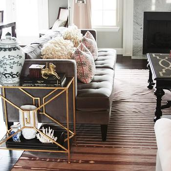 Eclectic, living room, Sherwin Williams Mindful Gray, Little Green Notebook