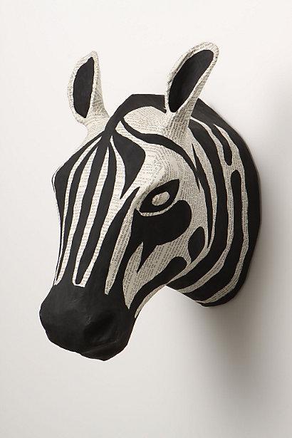 Savannah Story Bust, Zebra I Anthropologie.com