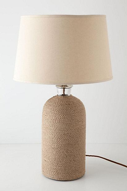 rope knot table lamp base pottery barn. Black Bedroom Furniture Sets. Home Design Ideas