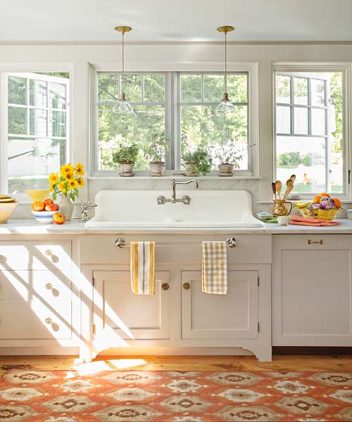 Old Farmhouse Kitchen Sinks: Farmhouse Kitchen Cabinets