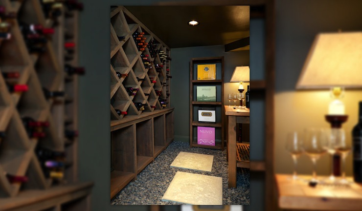 Wine Cellar Transitional Basement Hammersmith Atlanta