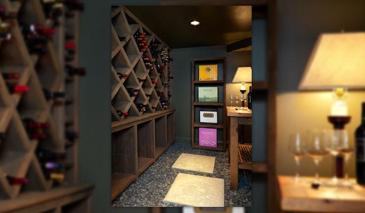Wine Cellar Transitional Basement Hammersmith Atlanta