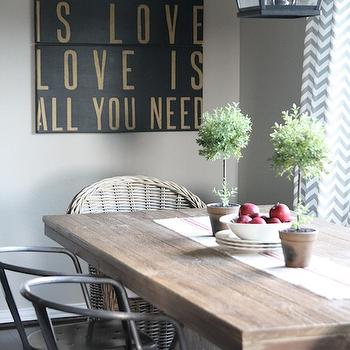 Holly Mathis Interiors. Reclaimed Wood Dining Table