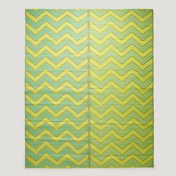 Yellow and Green Chevron Rio Foldable Floor Mat, World Market