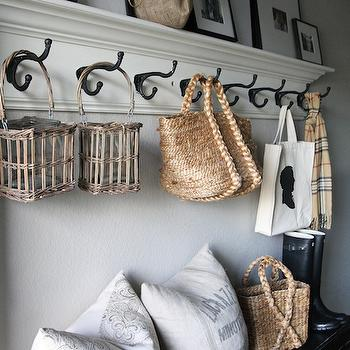 Picture Ledge, Cottage, laundry room, Holly Mathis Interiors