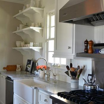 Holly Mathis Interiors · White Beadboard Kitchen