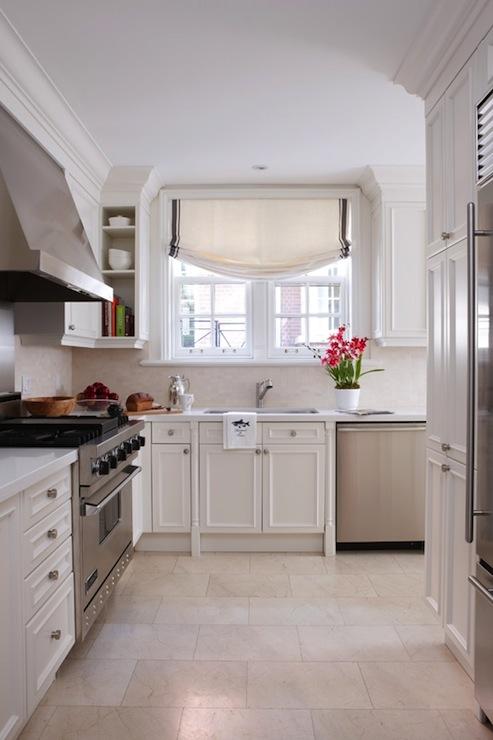 Cream Tile Kitchen Floor Design Ideas, Cream Kitchen Cupboards White Tiles