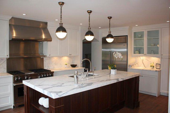 Thomas O Brien Hicks Pendants Transitional Kitchen