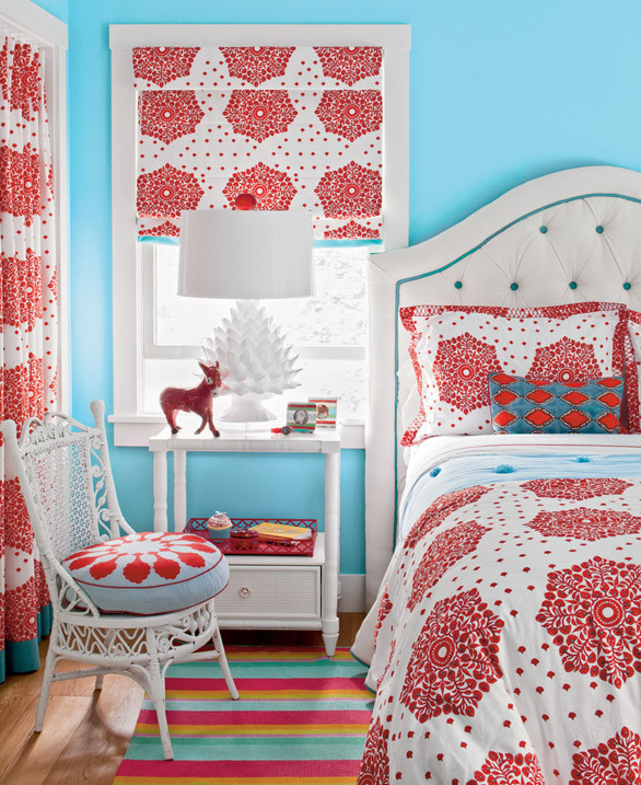 Blue And Red Girl's Room