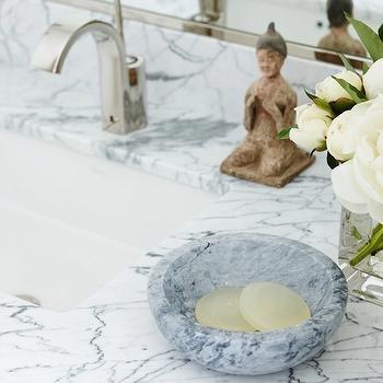 Marble Soap Dish, Transitional, bathroom, Anne Hepfer Designs