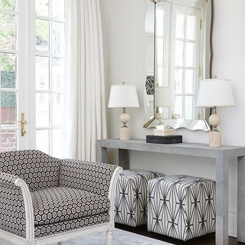 Gray Parsons Table, Contemporary, living room, Anne Hepfer Designs