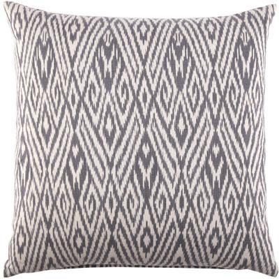 john robshaw gray ikat pattern pillow