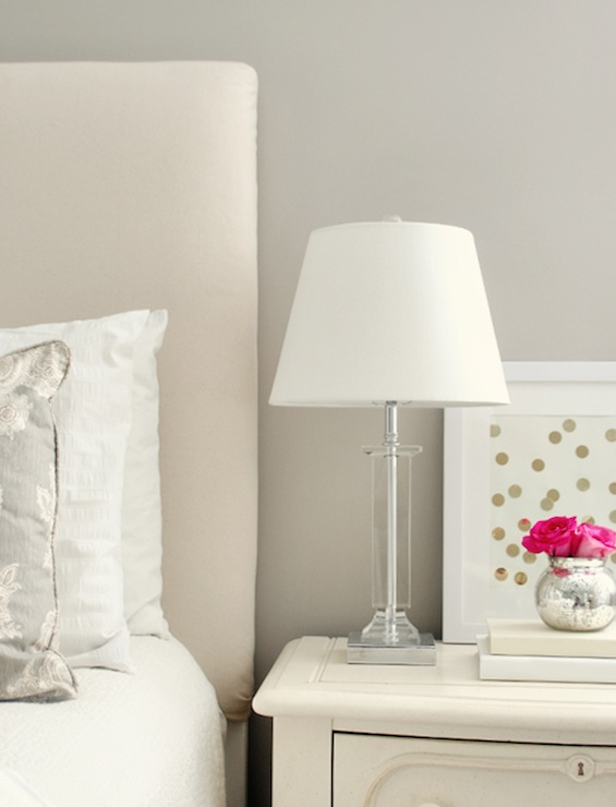 Greige Paint Color Transitional Bedroom Sherwin