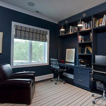 Navy Blue Office Cottage Den Library Office Benjamin