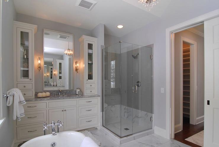 Cream Bathroom Cabinets Design Ideas