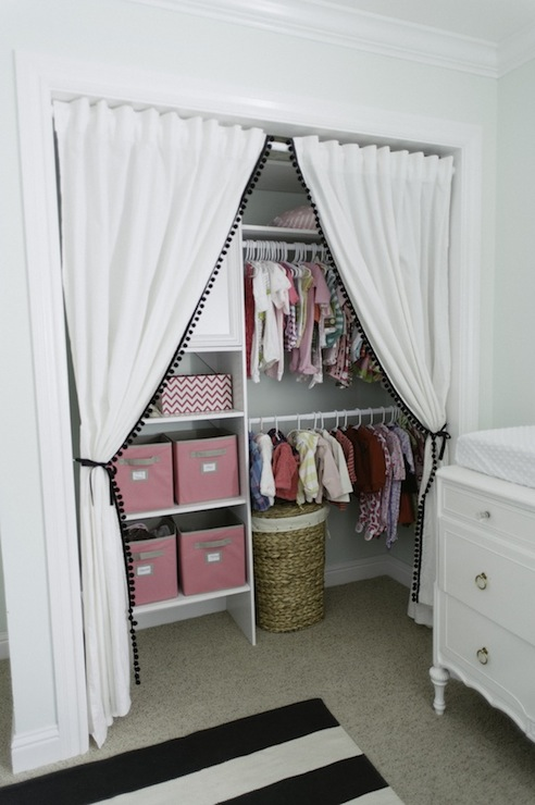 Linen Closet Curtains Design Ideas