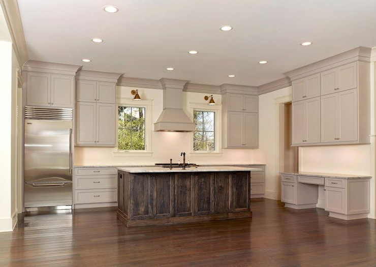 Taupe Cabinets Transitional Kitchen Sabal Homes Sc