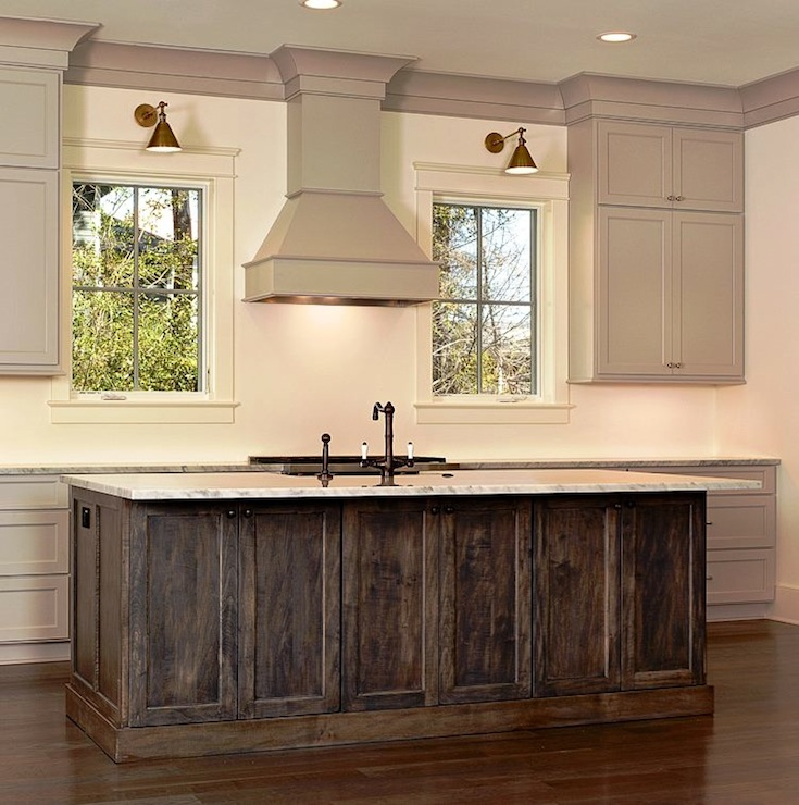Light taupe kitchen cabinets design ideas for Black stained cabinets