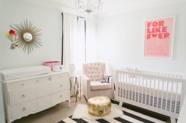 Pink And Green Nursery Design Contemporary Nursery Sherwin