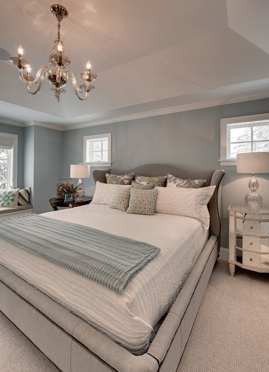 Blue and Gray Bedroom - Contemporary - bedroom - Great ...