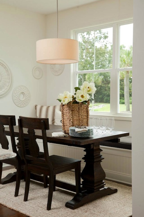 Beadboard banquette design ideas