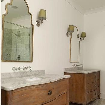 Restoration Hardware Empire Rosette Extra-Wide Single Vanity Sink, Traditional, bathroom, Sabal Homes SC