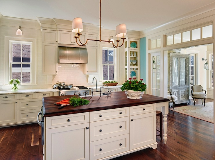 Cream Kitchen Cabinets  Traditional  kitchen  Lauren Nelson Design