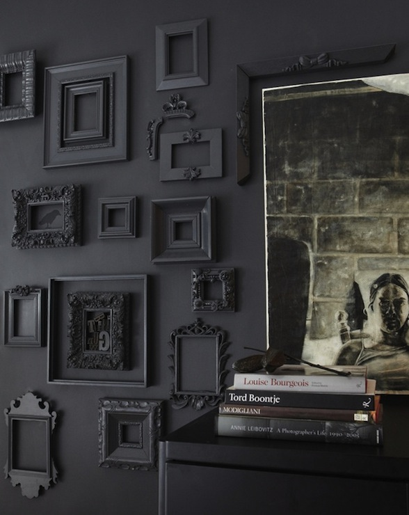 black picture frames wall. Black Rococo Frames Picture Wall