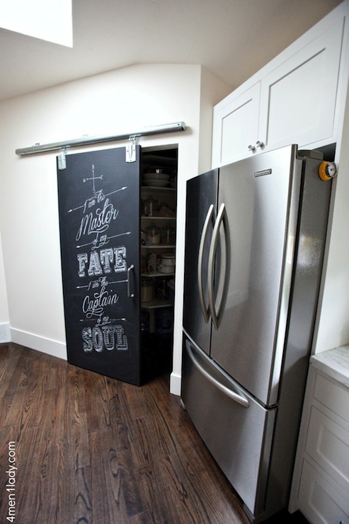 Chalkboard Pantry Door & Chalkboard Pantry Door - Transitional - kitchen - Benjamin Moore ...