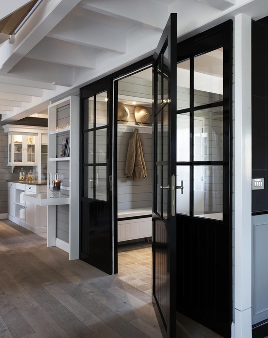 Black Foyer Doors : Black beadboard door transitional laundry room mi casa