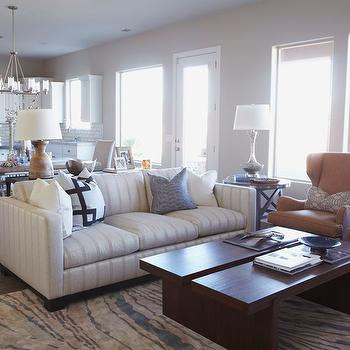 Awesome Striped Sofa View Full Size. Gorgeous Open Concept Living, Dining Room And  Kitchen With Walls Painted ...