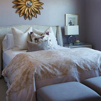 Mirror over Bed, Traditional, girl's room, Benjamin Moore Mauve Desert, Alice Lane Home