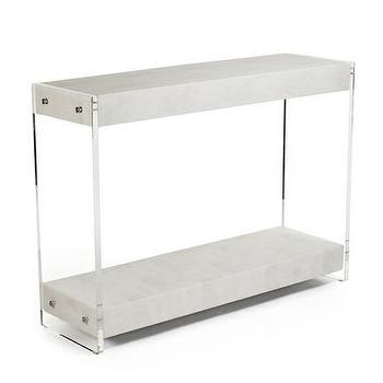 Harley Acrylic Console Table, Vielle and Frances