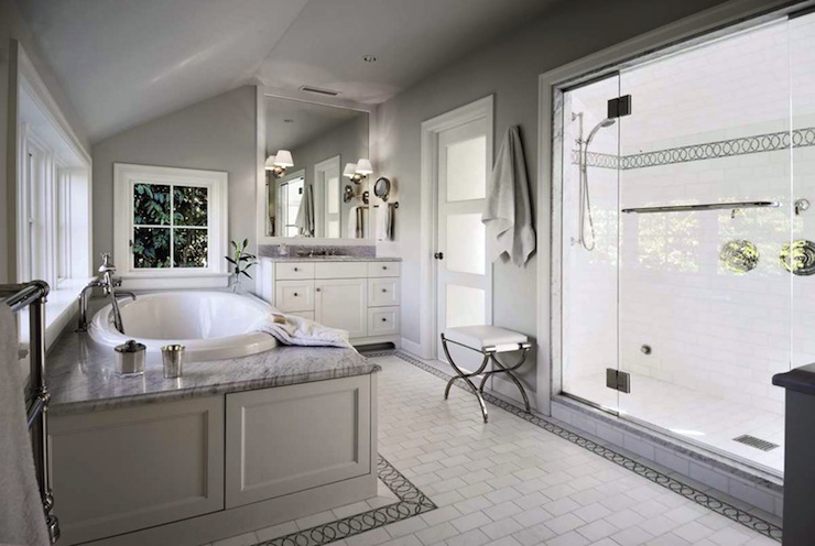 White And Gray Bathroom Traditional Bathroom Toth