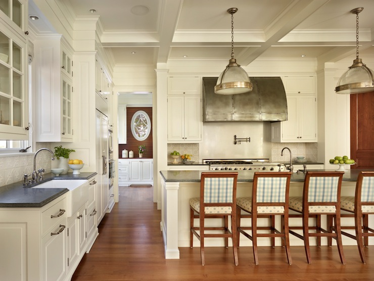 Coffered Ceiling Kitchen Traditional Kitchen Toth