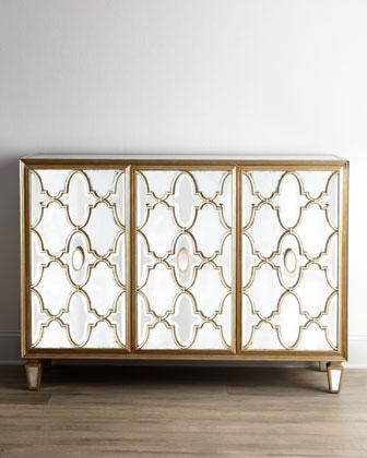John Richard Collection Arabesque Mirrored Console I Horchow